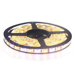 300SMD-Tira-de-luces-LED-5M-5050RGB-Blanco-Calido-IP65-Impermeable