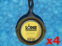 4 Lodge H5ms 5 Inch Cast Iron Mini Skillets Pre-seasoned By Lodge Ready To Use