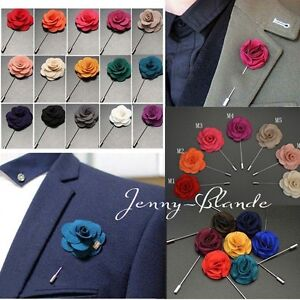 Men-Accessories-Lapel-Flower-Daisy-Handmade-Boutonniere-Stick-Brooch-Pin-Wedding