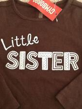 """GYMBOREE~NWT GIRLS BEST FRIEND """"LITTLE SISTER"""" L/S TOP~sz. 2T"""