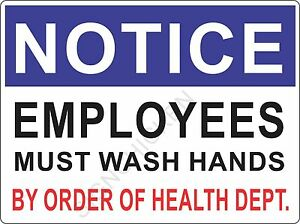 Image Is Loading 9 034 X 12 034 Employee Must Wash