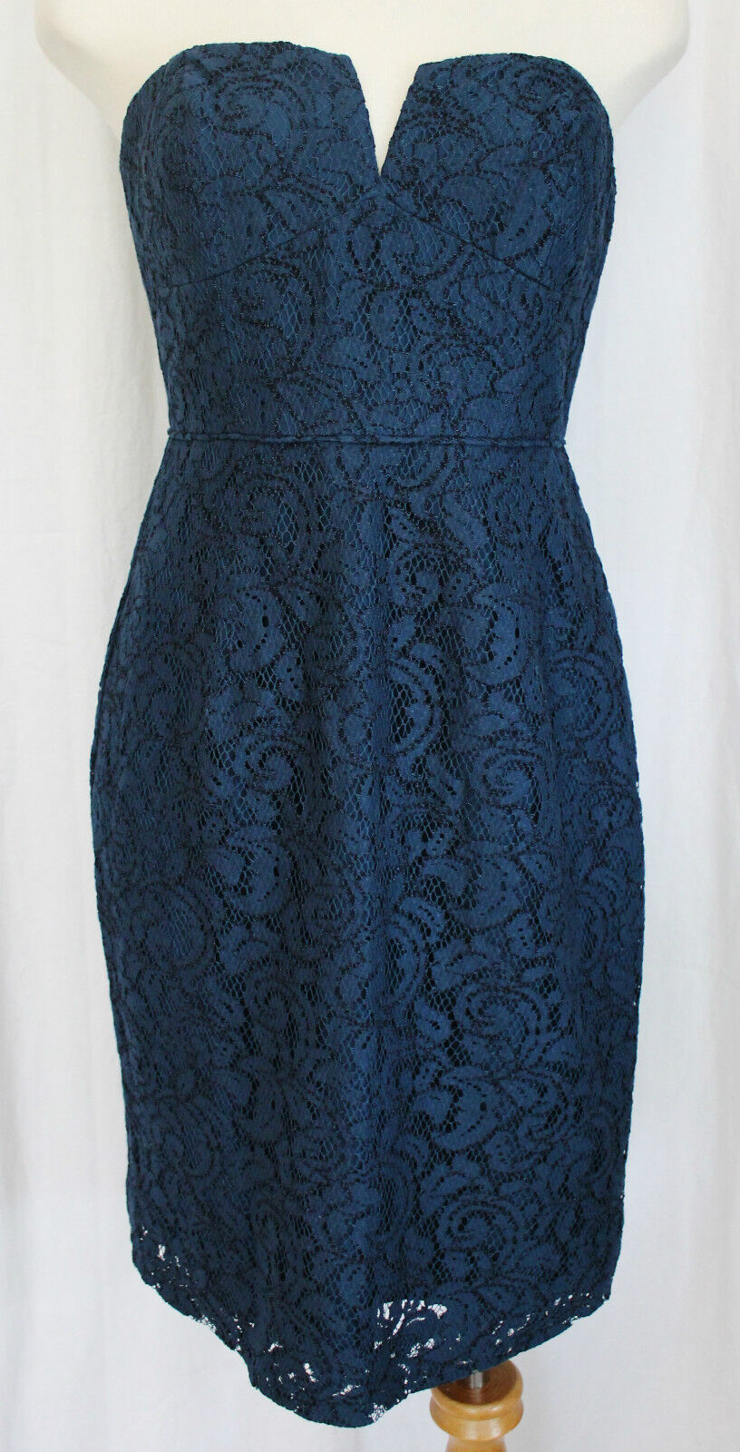 184bbd23942c J CREW CATHLEEN DRESS IN LEAVERS LACE ACROPOLIS blueE SIZE 2 NEW WITH TAGS
