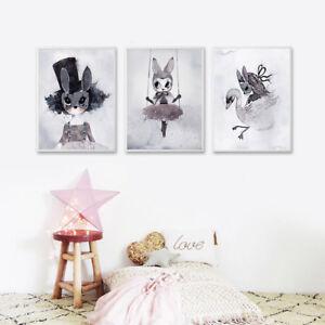 Image Is Loading Nursery Cartoon Canvas Art Prints Poster Kawaii Picture