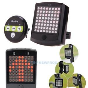 64-LED-Fahrrad-Ruecklicht-Lichtstrahl-Fernbedienung-Blinker-Sicherheit-Licht