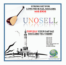 UNO: STRING SET WITH KNOB FOR TURKISH STRING INSTRUMENT LONG NECK SAZ  0.20MM