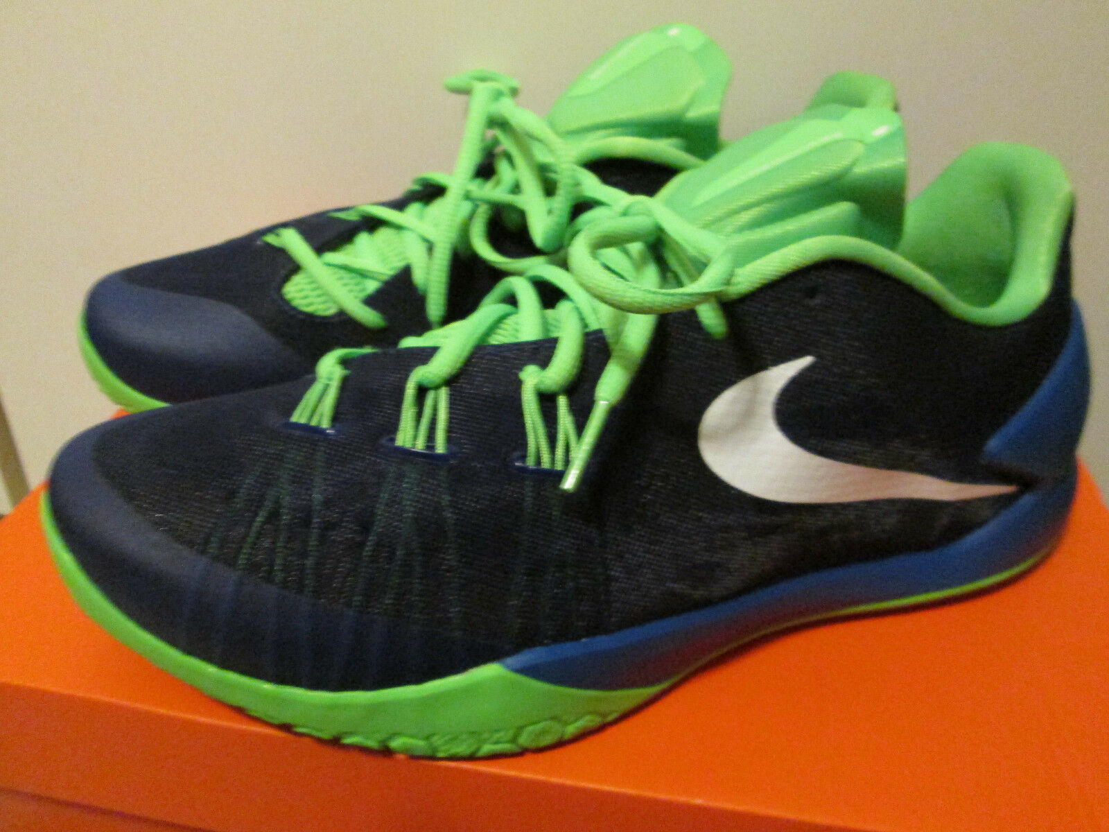 Great discount Nike Hyperchase Blue Green James Harden Basketball Athletic Shoes Comfortable