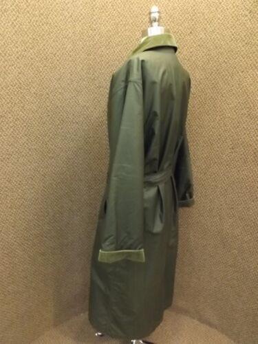 couverture en laine Coat ceinturé S femmes pour en Vtg avec Trench Woolrich laine vert x8C4q4