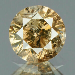 0-43-Carat-NATURAL-Sparkly-Coffee-Brown-DIAMOND-LOOSE-for-Setting-Round-Cut