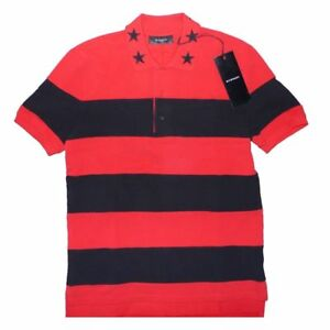 b97f4d5d82ea1 Image is loading Givenchy-Stars-Stripes-Red-Black-Polo-T-shirt-