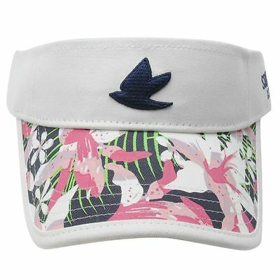 SoulCal Sun Peak Golf Visor Off White Pink Multi Floral Adjustable Velcro Back