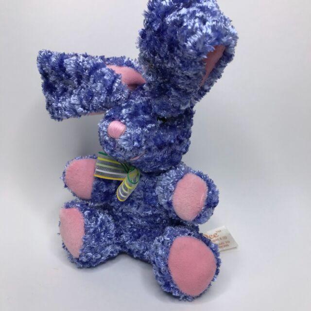 Dan Dee Soft Plush Blue Bunny Collectors Choice Small Stuffed Animal Rabbit
