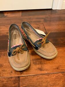 Sperry-Top-Sider-Red-White-amp-Blue-Mesh-Striped-Loafers-Boat-Shoes-Size-7-US