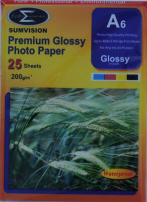 Cheapest Price From Our Site Self-Conscious Sumvision A6 200gsm Premium Gloss Photo Paper 25, 50, 100, 200, 400 Sheets