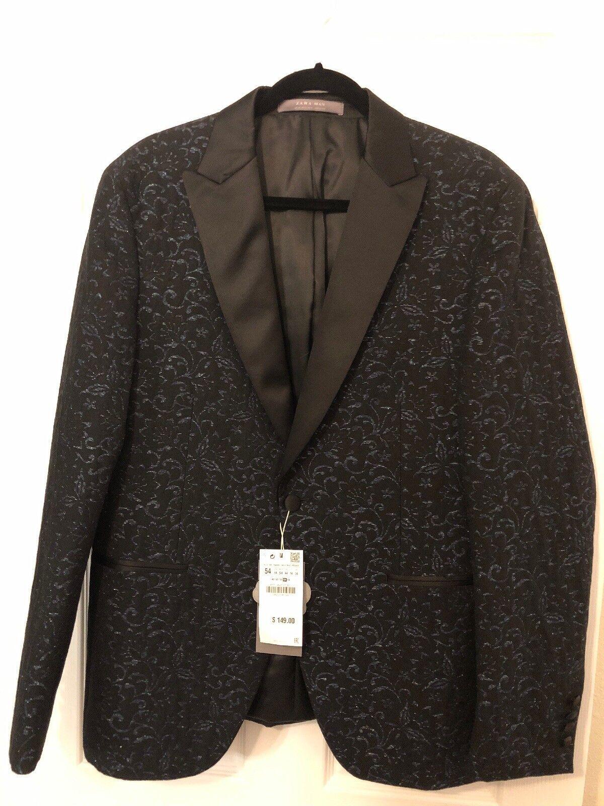 Zara Men Blazer Size 44 New With Tags Retails For