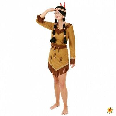 Kostüm Indianerin Gr 34-48 Damen Kleid braun Fasching Karneval Apatschin Squaw