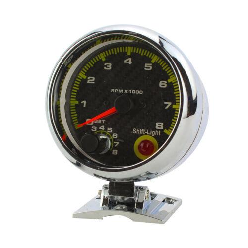 Shift Light 0-8000 12V Universal Car 3.75/'/' RPM Tachometer Tacho Gauge