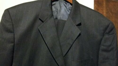 wol Blacker geplooid streeppak 44r36w Sz pantalon Stanley 882531589755 2pc 3btn zwart kasjmier 8n0OPkXw