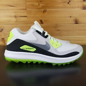NIKE AIR ZOOM 90 IT SPIKELESS GOLF SHOES 844569 102 WHITE VOLT MEN S ... f0a5bbccd