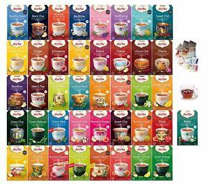 YOGI TEA - Varietà di TÈ e INFUSI di ERBE/SPEZIE confezioni da 17 bustine filtro