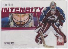 2012 12-13 Elite Intensity #8 Patrick Roy 496/500