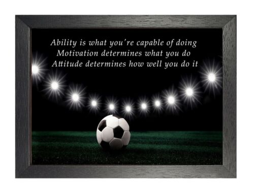 1 Football Inspirational Quote Print A3 A4 Or Laminated Quality Poster