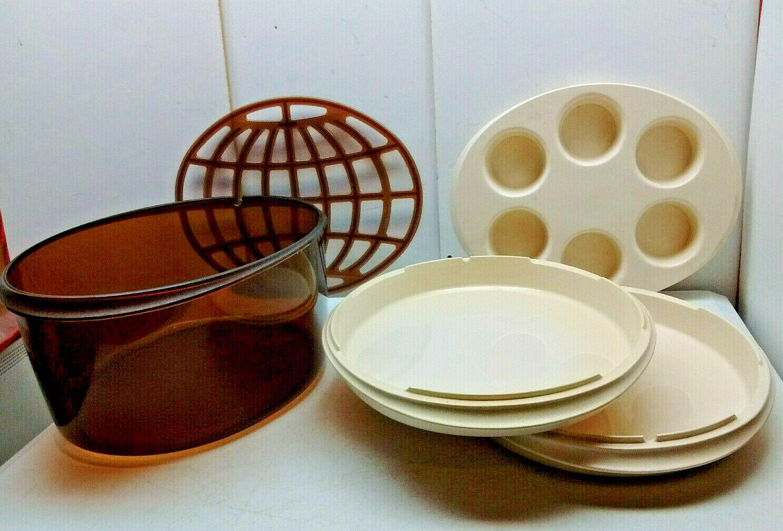 Amway Micro-Queen Cookware Melamine Microwave Roaster Egg Poacher Dutch Oven Pot