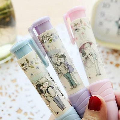 1PC Cartoon Pen Shaped Rubber Pencil Eraser Students Stationery Gift New
