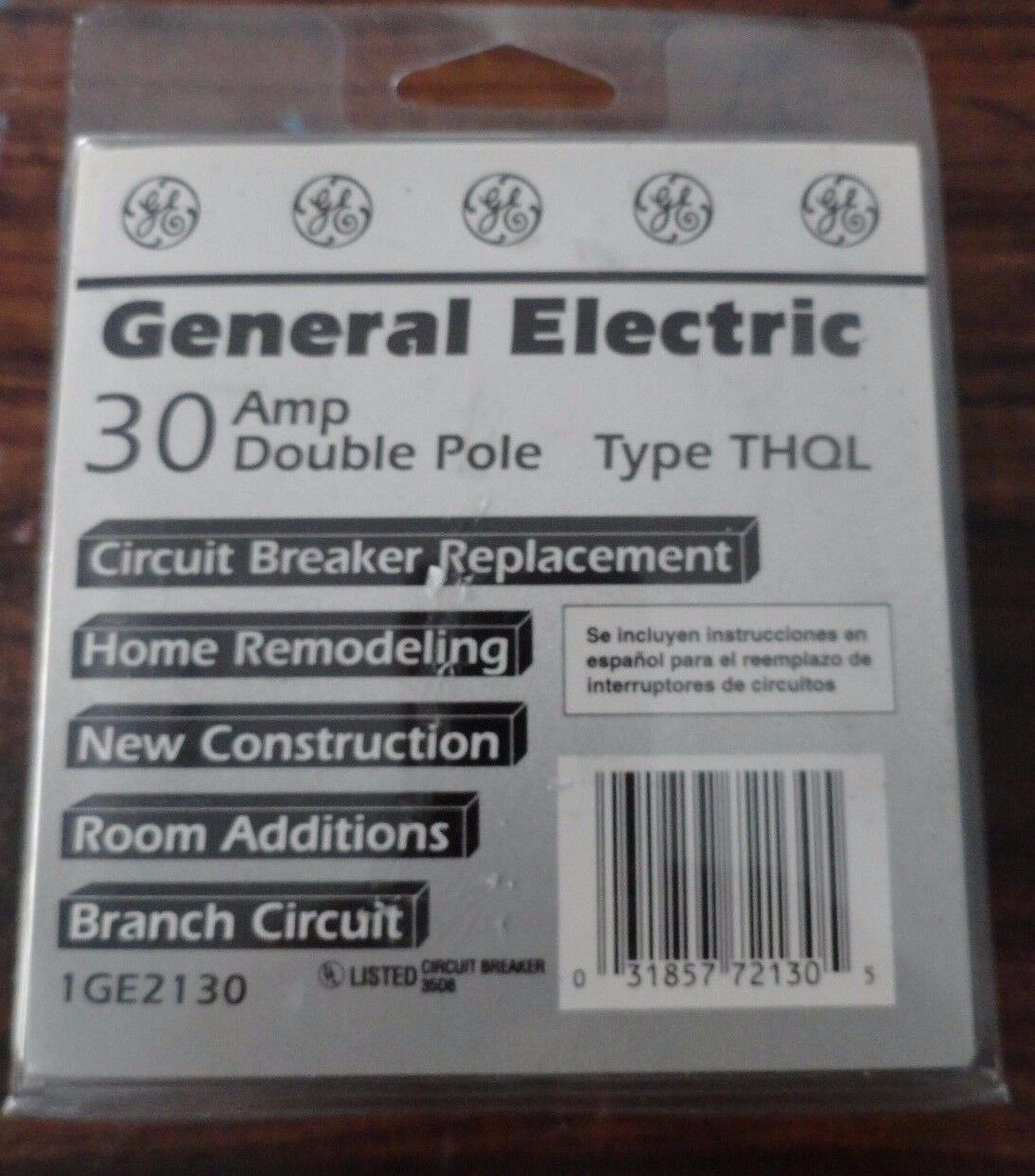 General Electric 30 Amp Double Pole Circuit Breaker Type Thql Fuse Box For Home 1ge2130 Ebay