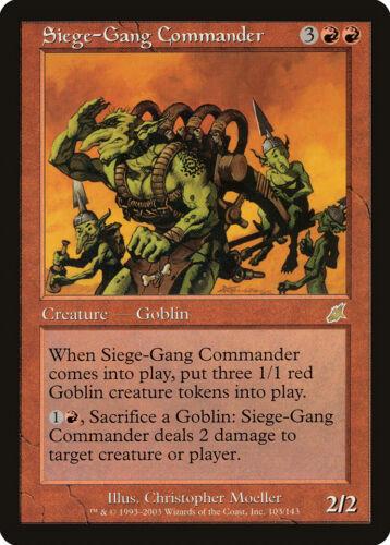 MTG Magic EX SCOURGE  Siege-Gang Commander   VO