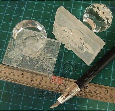 8050 custom-made customize Handmade Acrylic Glass Soap Stamp Seal Soap Mold