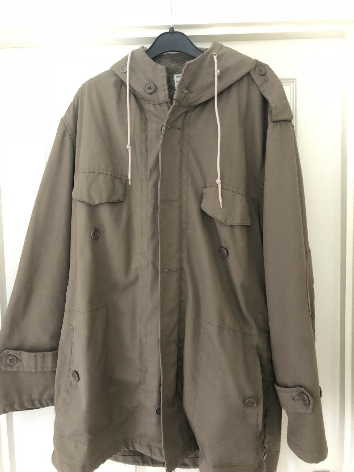 Army Style Parka, Beige. Size 50 (M)