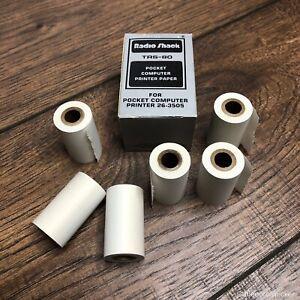 6-Rolls-of-Radio-Shack-TRS-80-Paper-For-Pocket-Computer-Printer-26-3506-VTG-NOS