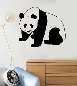 Image Is Loading Vinyl Wall Decal Cute Panda Bear Child Room