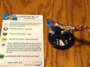 #002 Iron Man MK 42 HeroClix Iron Man 3 Sammeln & Seltenes