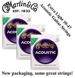 3 Sets Martin M170 Acoustic Guitar Strings Extra