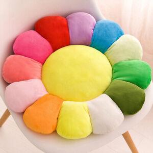 2Pcs 16/20/24 in Soft Cushion Pillow Rainbow Sunflower Seat Pad Sofa Chair Decor