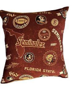 Florida-State-University-Pillow-Football-Pillow-FSU-Pillow-NCAA-HANDMADE-In-USA