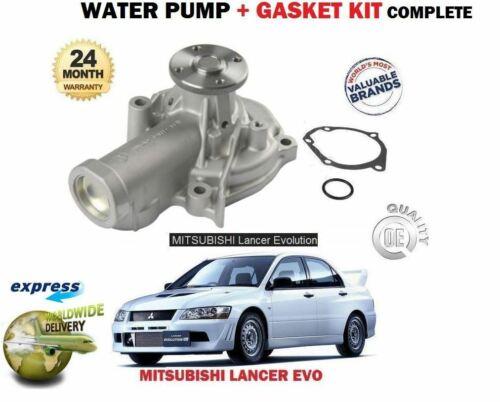 FOR MITSUBISHI LANCER EVO 4 5 6 7 8 9 2.0 TURBO 1996-/> WATER PUMP GASKET KIT