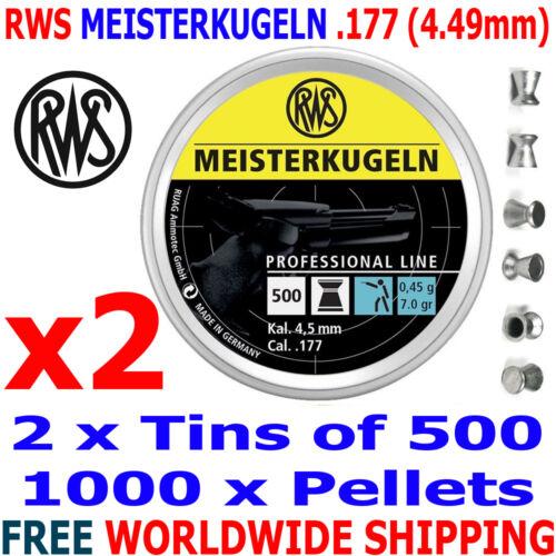 RWS MEISTERKUGELN .177 4.49mm Airgun Pellets 4 0,45g 10m PISTOL x500pcs tins