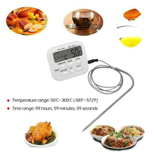 Kitchen Meat Thermometer Digital Food Cooking Smoker Oven Grill Thermometer