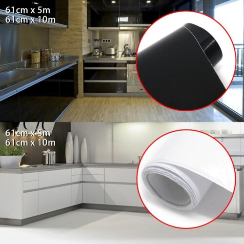 61cm x 5m 10m Worktop Cabinet Self Adhesive Vinyl Covering  Makeover Decoration