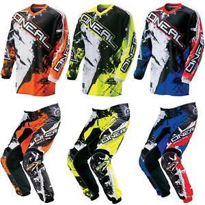 Oneal-elemento-ninos-MX-Jersey-pantalones-Shocker-Moto-Cross-Enduro-Mountainbike-MTB