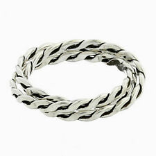 USA Seller Twisted Rope 3pcs Ring Sterling Silver 925 Best Deal Jewelry Size 6