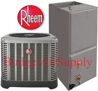 Rheem/ruud 2 Ton 14 Seer A/c Complete Split System Ra1424aj1+rh1p2417stan Newest on Sale