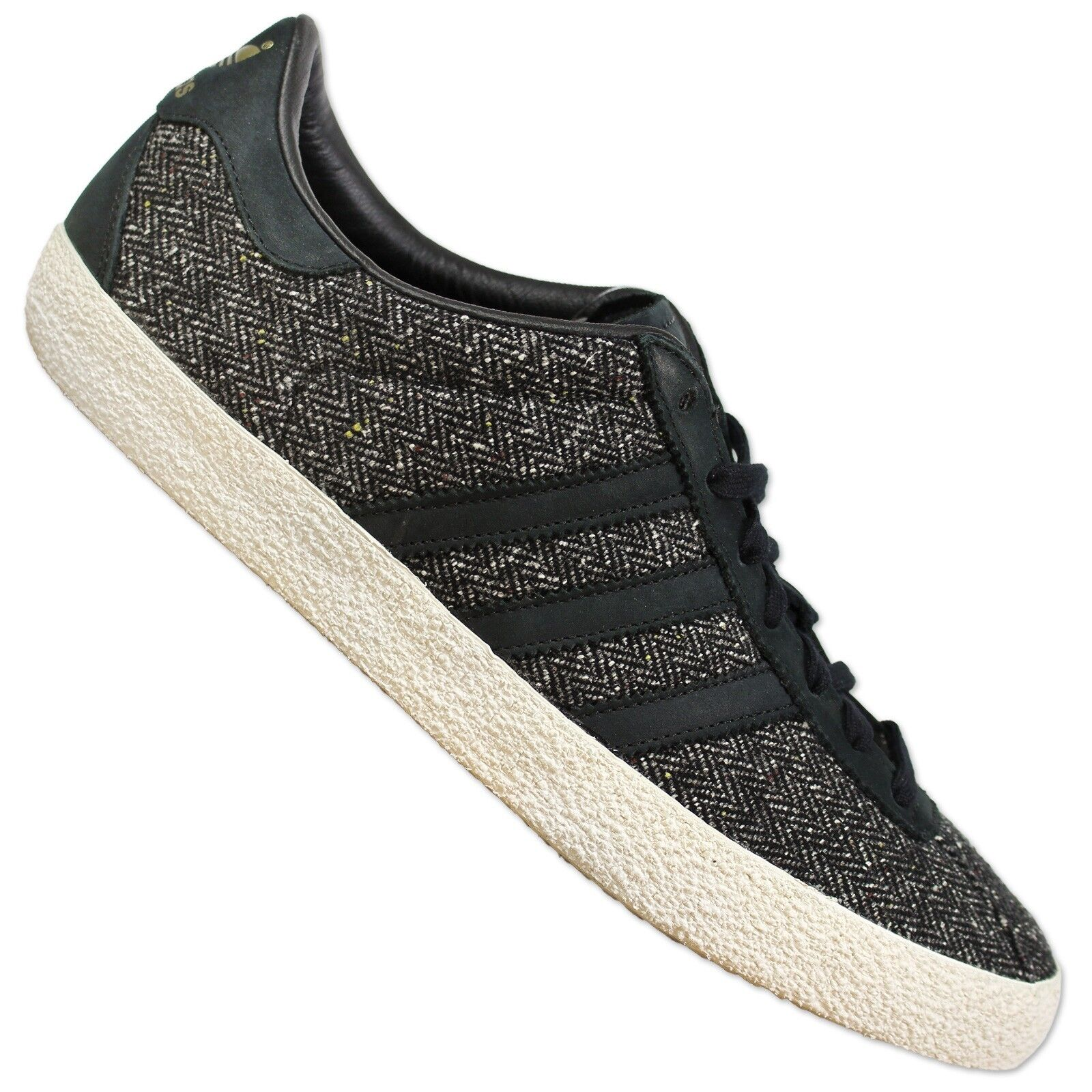 ADIDAS 70s Originals Gazelle 70s ADIDAS  Scarpe in pelle Tweed Nero 45 1/3 bcf65a