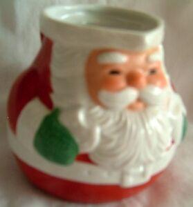 Christmas-Figurine-Santa-Claus-Ceramic-Creamer-Milk-Jug-Vintage-1983