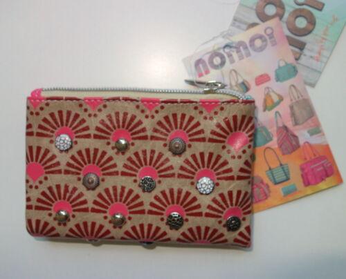Noi Noi Gelbörse Tasche pink rosa Portmonai perlen Nieten NN-140-01