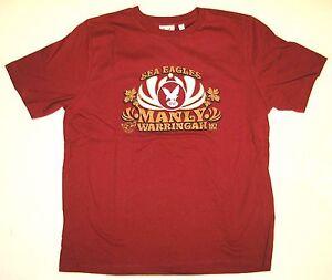 NRL MANLY WARRINGAH SEA-EAGLES T-Shirt Retro 60's design (M)  w/tags NEW