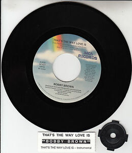 BOBBY-BROWN-Thats-The-Way-Love-Is-7-45-rpm-vinyl-record-juke-box-title-strip