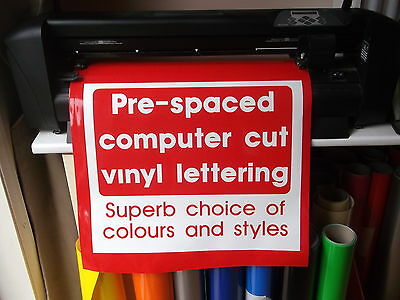 Self adhesive vinyl lettering for shops vans crafts signs